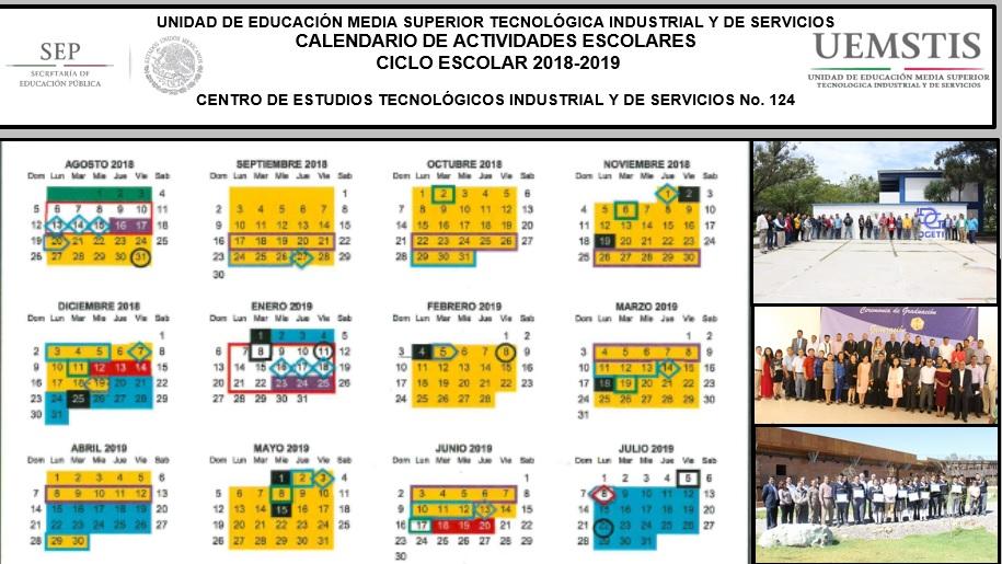 Calendario Mariano.Calendario De Actividades Semestre Febrero Julio 2019